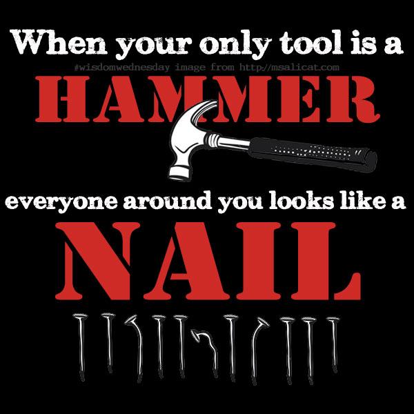 WisdomWednesday – Hammer and Nails, Yo!